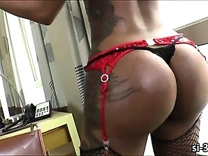 Tempting tgirl Andressa Lyra anal ripped and jizz blasted