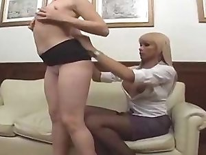 Blonde shemale fuck a hot girl