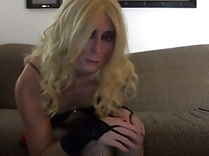 Hot Blond Tasha Crossdresser Schoolgirl